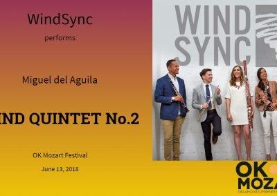 6.13.2018 Wind Quintet No.2 WindSync Quintet OK Mozart Music Festival Oklahoma Miguel del Aguila