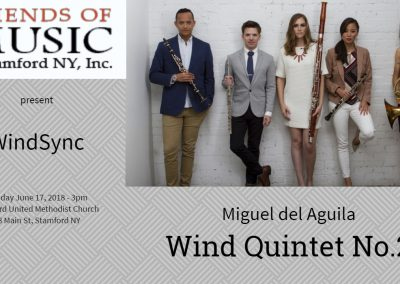 6.17.2018 Wind Quintet WindSync Quintet Friends of music of Stamford NY Stamford New