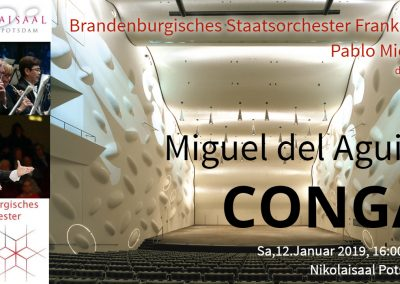 Brandenburgisches Staatsorchester Frankfurt Pablo Mielgo Conductor dirigent Nikolaisaal Potsdam Germany Miguel del Aguila CONGA
