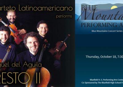 Cuarteto Latinoamericano string quartet Miguel del Aguila PRESTO concerts CD Alvaro Bitrán cello Javier Montiel viola Arón Bitrán Saúl Bitrán violin Mexico