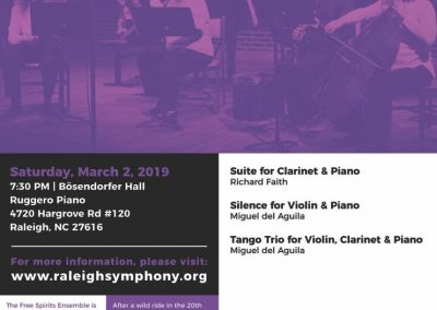 Free Spirits Ensemble March 2019 concert