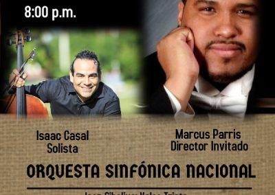 Generic Concierto en Tango cello and orchestra Isaac casal violonchelo Orquesta sinfonica nacional de panama marcus parris director festival saint malo miguel del aguila