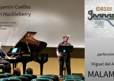 IDRS 2018 Bassoon piano Malambo Benjamin Coelho Miguel del Aguila Alan Huckleberry Sala Falla Palacio de Congresos y Exposiciones Granada Spain International Double Reed Society Convention f