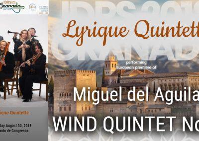 IDRS 2018 Wind Quintet Miguel del Aguila Sala Falla Palacio de Congresos y Exposiciones Granada Spain Lyrique Quintette International Double Reed Society Convention quineteto de vient