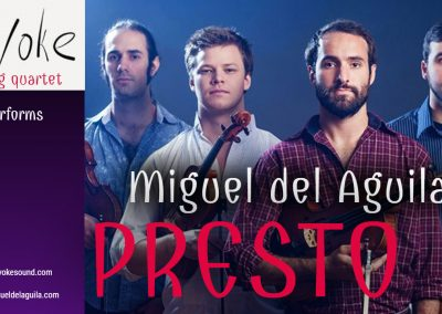 Invoke string quartet 2018 Concert Artist Guild Victor Elmaleh Competition Winners Miguel del Aguila PRESTO II string quartet chamber music