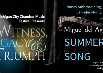 Miguel del Aguila SummerSong oboe piano Nancy Ambrose King Jennifer Muniz Michigan CityChamber Music Festival IDRS Michigan american music composer classical contemporary compositor latino