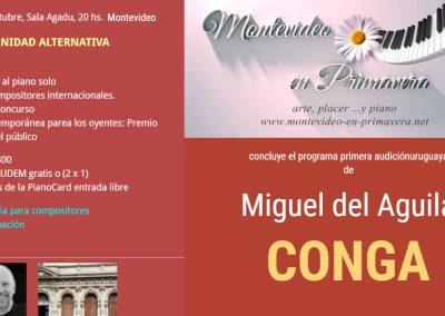 Montevideo en Primavera Uruguay Rainer Klaas piano Miguel del Aguila Conga compositor latinoamericano latin Grammy festival nominated hispanic modern South American Argentina chamber mu