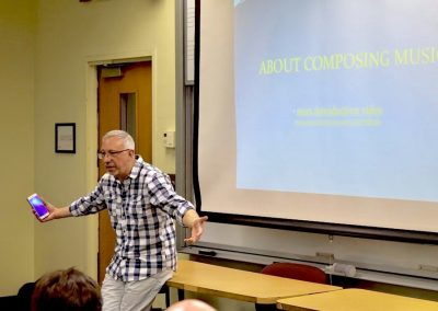 Miguel del Aguila composer in residence master class at Connecticut Summerfest Aaron Jay Kernis