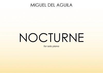 Nocturne solo piano Miguel del Aguila sheet music