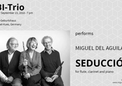 UBI Trio flute clarinet piano Miguel del Aguila SEDUCCION