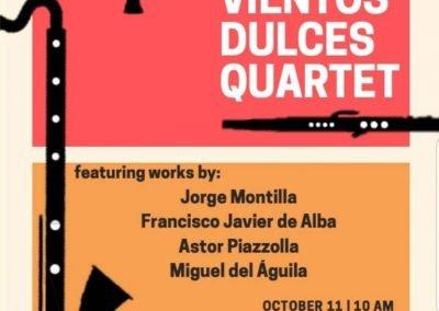Vientos Dulces Transoceanica for clarinet quartet Miguel del Aguila