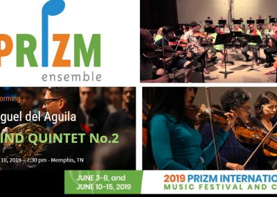 WIND QUINTET PRIZM Ensemble PRIZM Music Camp International Chamber Music Festival Miguel del Aguila Memphis american music composer classical contemporary compositor latinoamericano latin Gr
