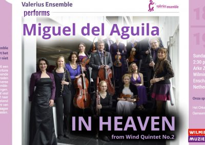 Wind Quintet Valerius Ensemble Arke Zaal Wilminktheater Enschede Netherlands Miguel del Aguila american music composer classical contemporary compositor latinoamericano lat