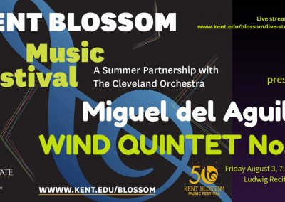 Wind Quintet Woodwind Kent Blossom Music Festival Miguel del Aguila State University Hugh Glauser School of music composer classical contemporary American latin hispanic