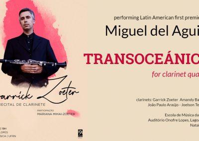 clarinet quartet cuarteto de clarinetes Klarinettenquartett quatuor de clarinette Miguel del Aguila Transoceanica