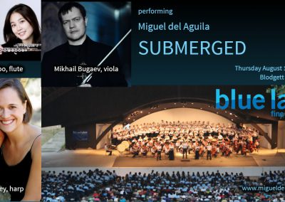 harp music trio Blue Lake Festival Miguel del Aguila SUBMERGED harfe kammermusik american music composer classical contemporary latin hispanic modern South American Argentina chamber