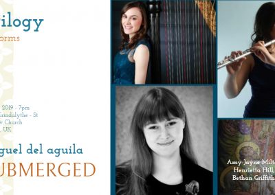 harp trio Trilogy Miguel del Aguila SUBMERGED harfe kammermusik american music composer classical contemporary latin hispanic modern South American Argentina chamber music composi