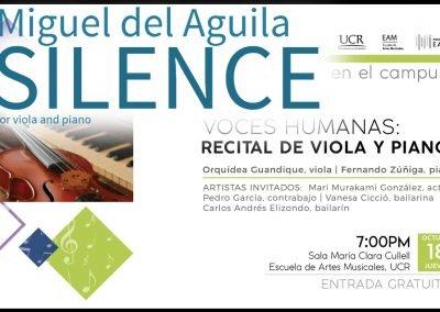 viola and piano duet SILENCE Bratsche alto Klavier ビオラとピアノ 中提琴和钢琴 альт и фортепиано 비올라와 피아노 Miguel del Aguila,chamber music american mu