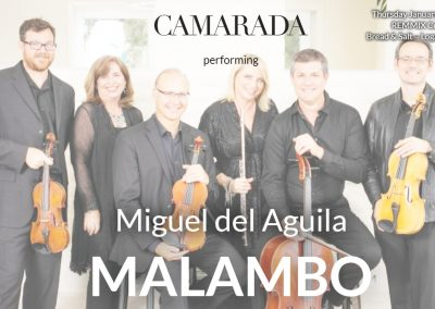 Malambo Miguel del Aguila Trio flute bass piano Camarada Ensemble REMMIX Concert Series Bread & Salt San Diego american music composer classical contemporary compositor latinoamericano latin hispanic