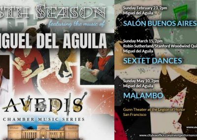 Avedis concerts Gunn Theater Legion of Honor San Francisco CA