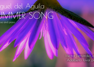 Oboe and piano duet Summer Song Miguel del Aguila Hector Fernandez oboe Adalberto Tovar piano IDRS double reed instruments