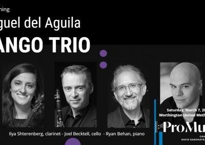 Promusica Chamber Orchestra Ensemble David Danzmayr conductor TANGO TRIO clarinet cello piano Miguel del Aguila Ilya Shterenberg