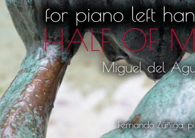 piano left hand only piano sheet music score solo main gauche mano izquierda pianoforte mano sinistra Klavier linke Hand Classical contemporary latin american usa Miguel del Aguila Fernando Z