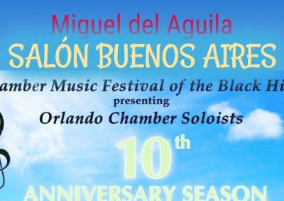 Miguel del Aguila Salon Buenos Aires sextet flute clarinet violin viola cello piano Orlando Chamber Soloists Chamber Music Festival Black Hills