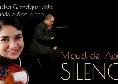 Viola and piano Bratsche und Klavier Alto e piano SILENCE Miguel del Aguila duet solo viola chamber music Orquidea Guandique Fernando Zúñiga american music composer