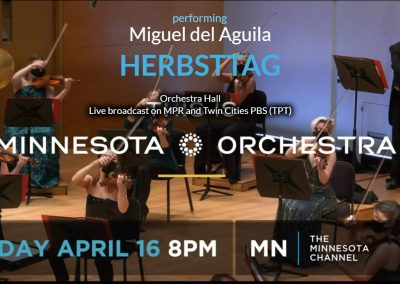 Minnesota Orchestra TPT Marc Albrecht conductor performs Miguel del Aguila HERBSTTAG