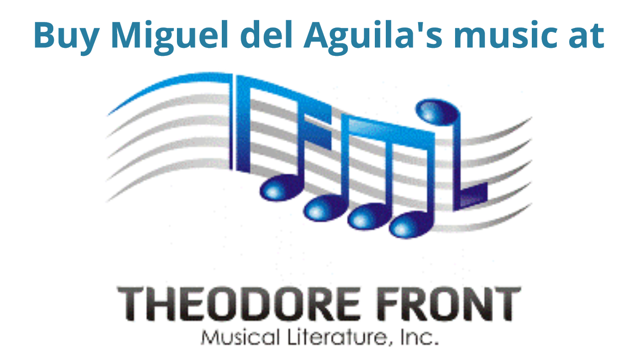 composer Miguel del Aguila at Theodore Front Music buy purchase